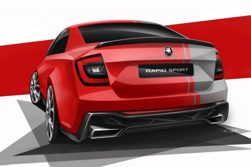 Skoda Rapid Sport concept to surface at Wörthersee Image #173099
