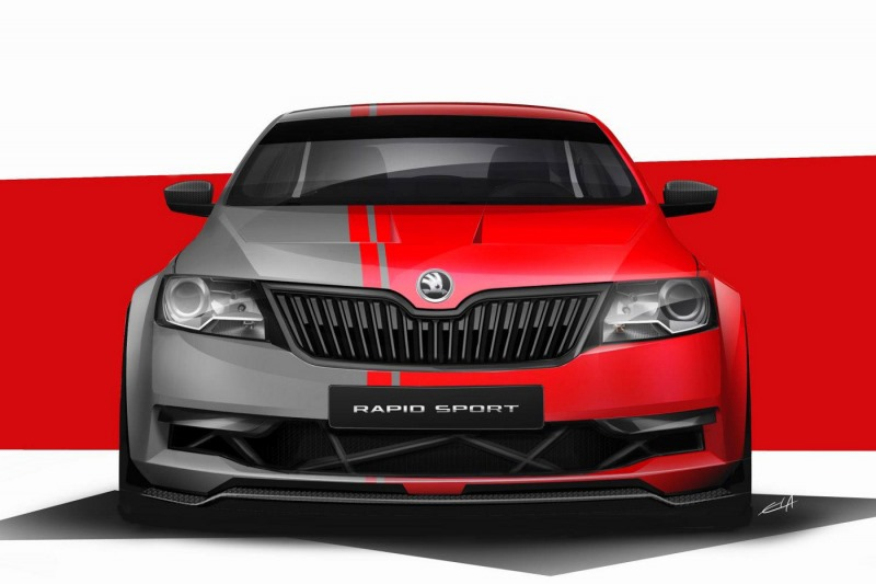 Skoda Rapid Sport concept to surface at Wörthersee Image #173100