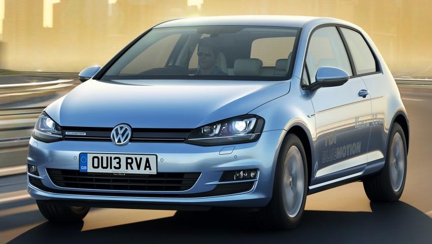31 km/L, 85 g/km VW Golf BlueMotion on sale in UK Image #172635