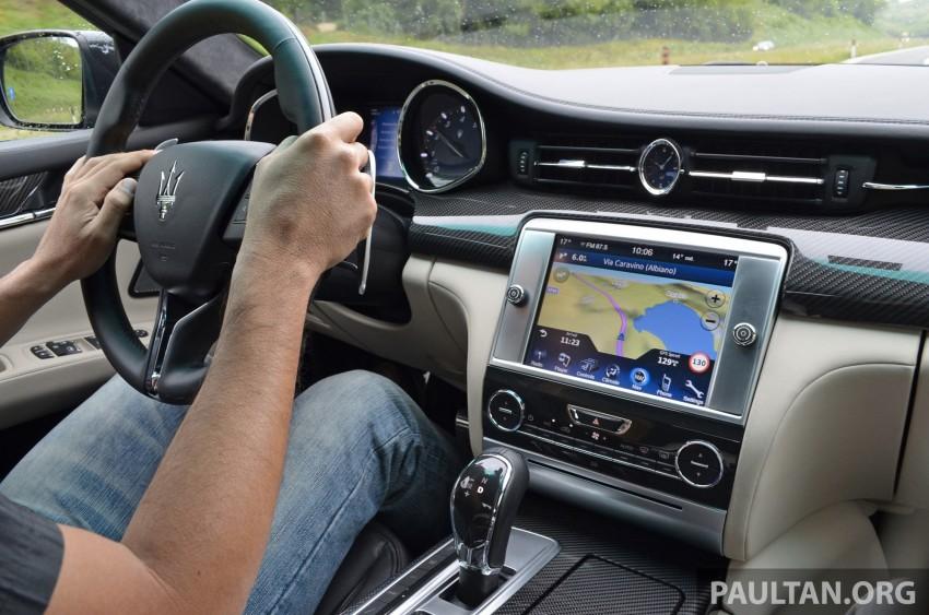 DRIVEN: New Maserati Quattroporte V6 tested in Italy Image #177448