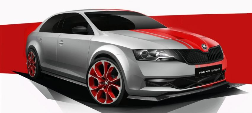 Skoda Rapid Sport concept to surface at Wörthersee Image #172948