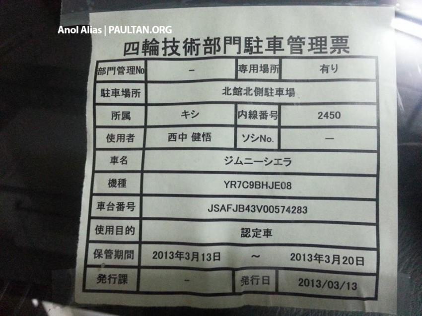 SPIED: Suzuki Jimny seen at JPJ Putrajaya Image #177082