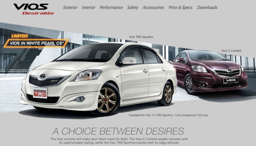 Toyota Vios now available in White Pearl CS colour Image #172939