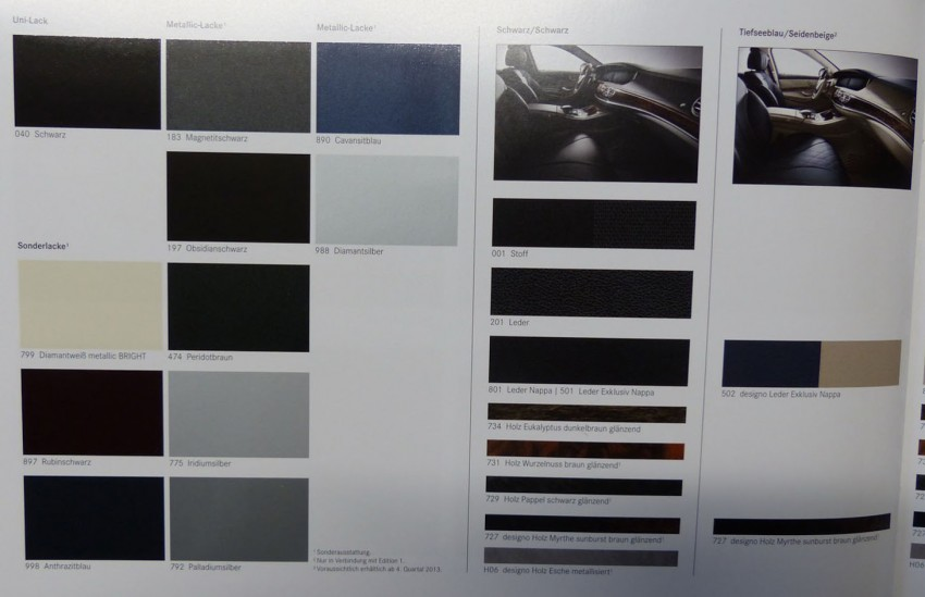 W222 Mercedes-Benz S-Class brochure leaked! Image #174200