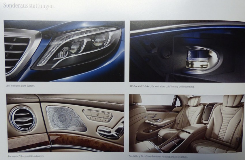 W222 Mercedes-Benz S-Class brochure leaked! Image #174202