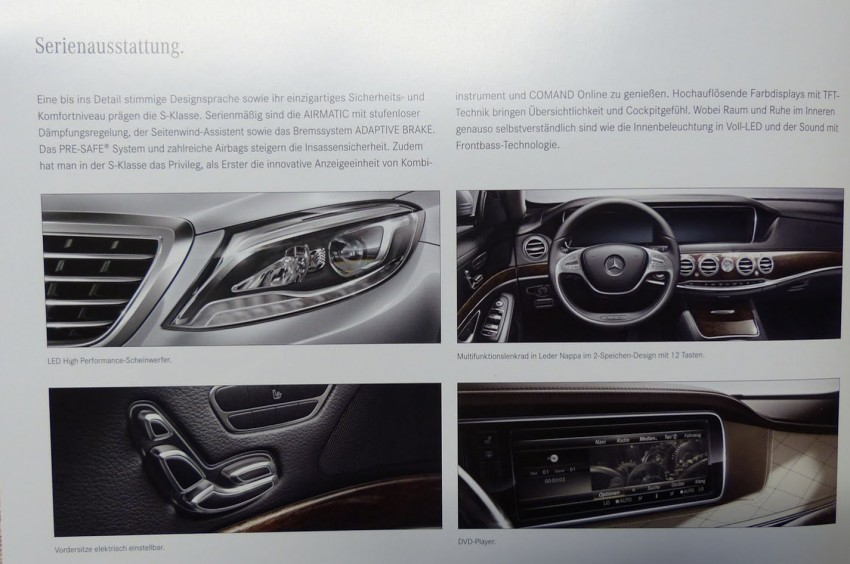 W222 Mercedes-Benz S-Class brochure leaked! Image #174204