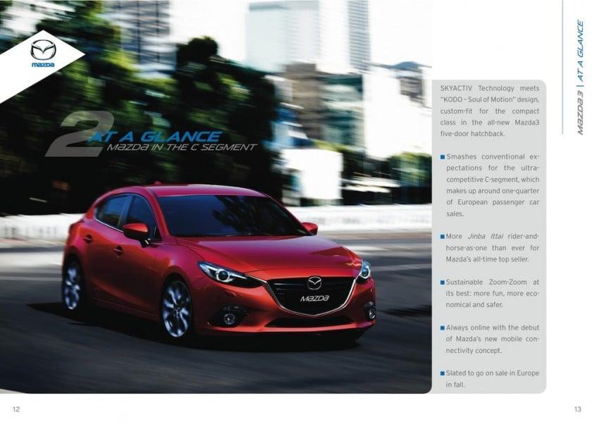 2014 Mazda 3 5-door hatchback makes world debut Image #183565