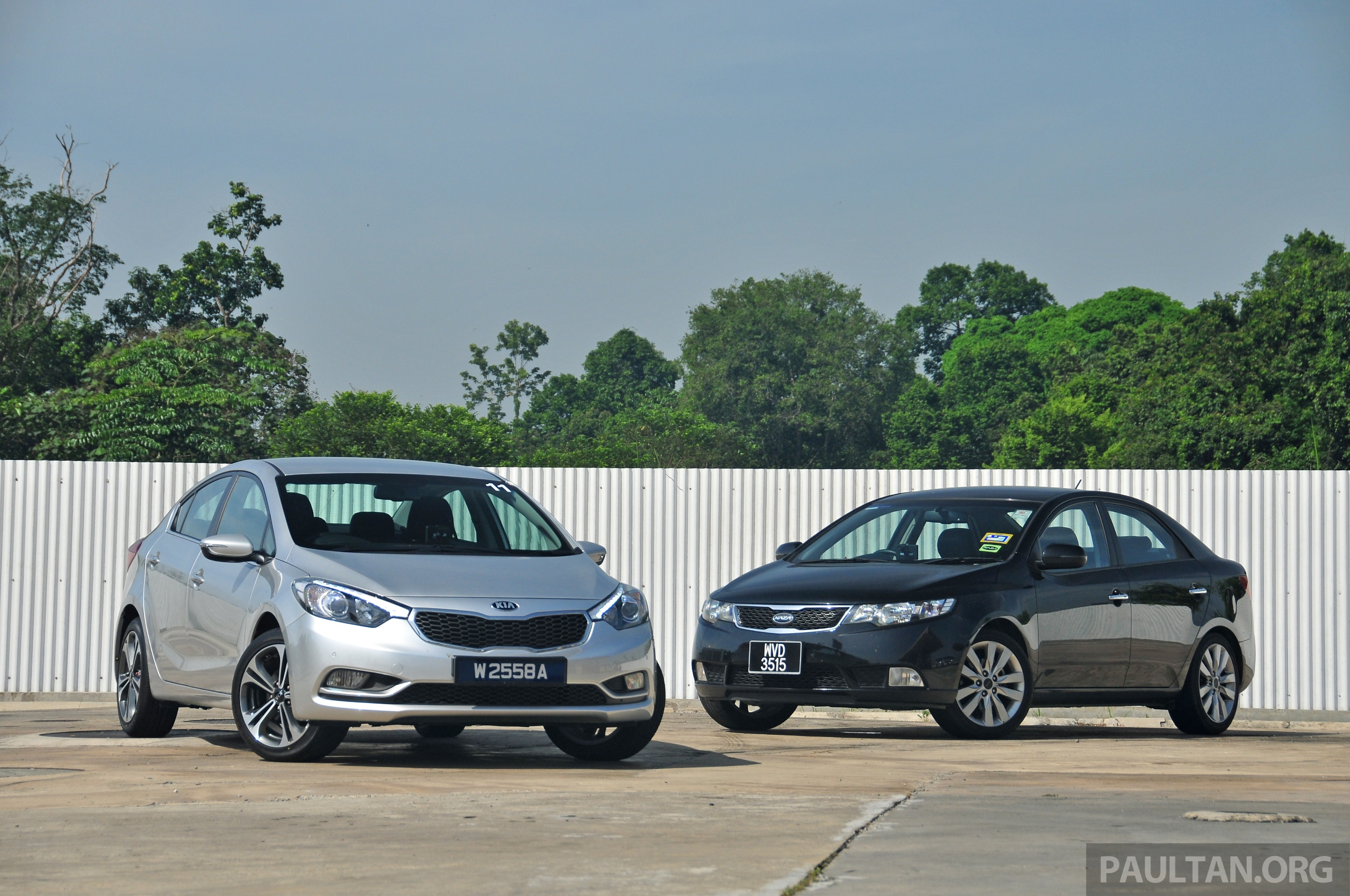 Gallery New Kia Cerato And Naza Forte Side By Side Image