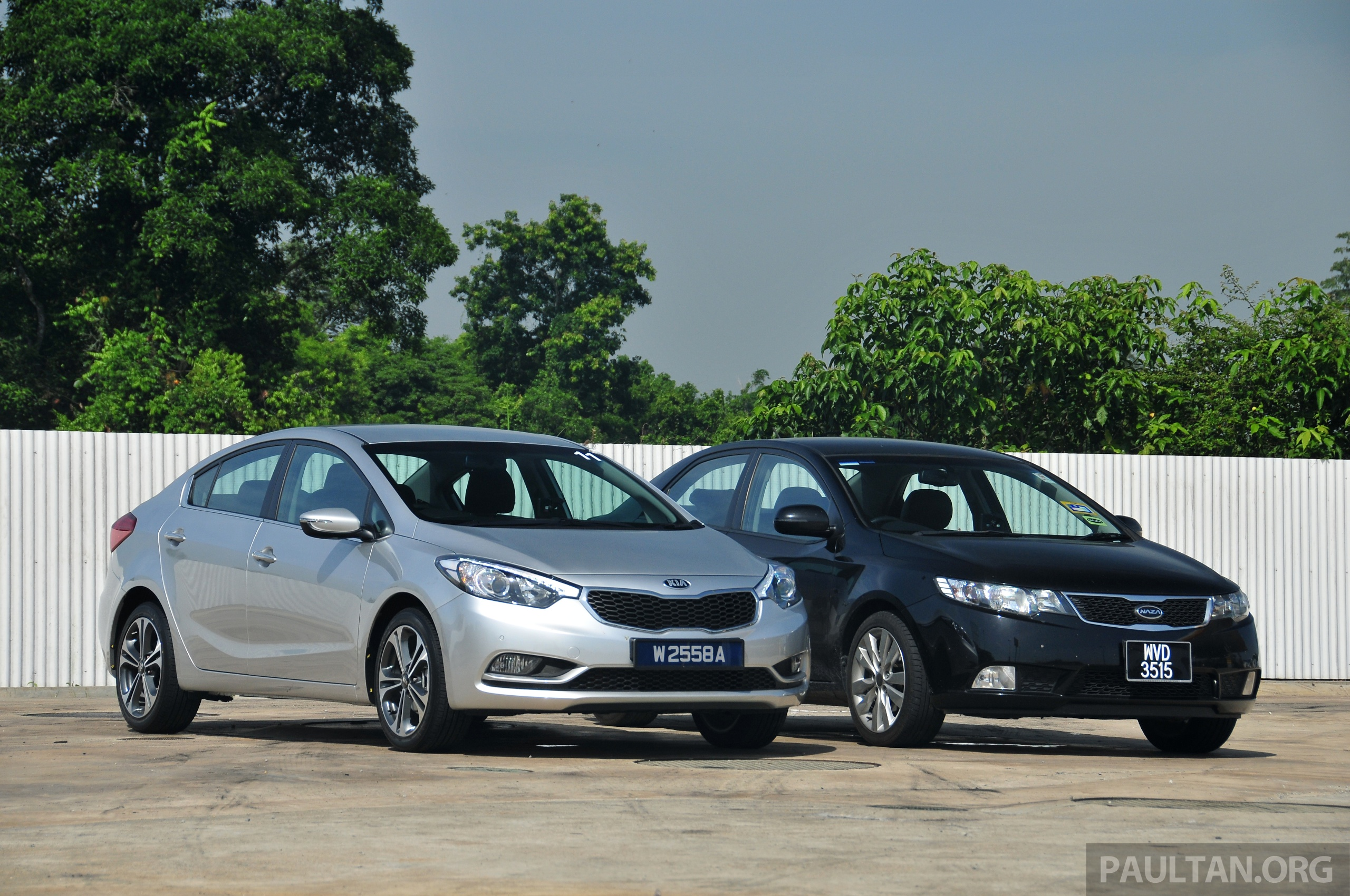 Gallery New Kia Cerato And Naza Forte Side By Side Paul