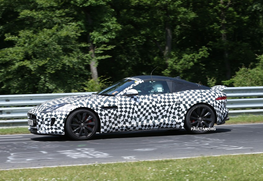 SPYSHOTS: Jaguar F-Type Coupe at the Nurburgring Image #181662