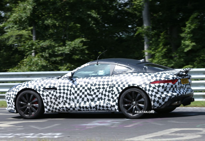 SPYSHOTS: Jaguar F-Type Coupe at the Nurburgring Image #181664