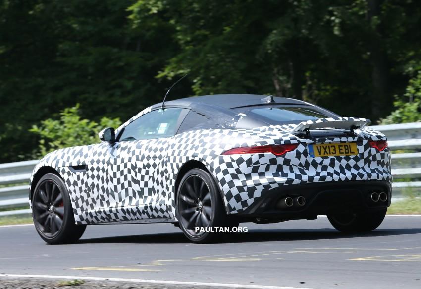 SPYSHOTS: Jaguar F-Type Coupe at the Nurburgring Image #181666