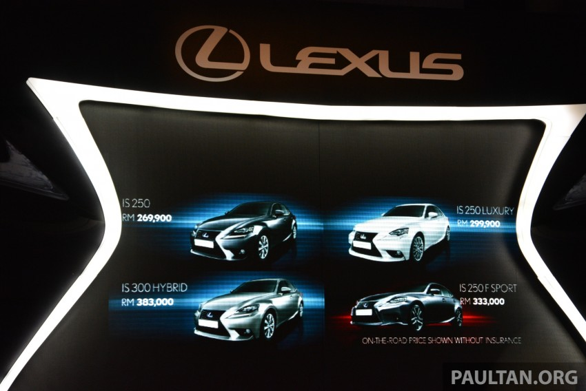 New Lexus IS launched – four variants, from RM270k Image #183061
