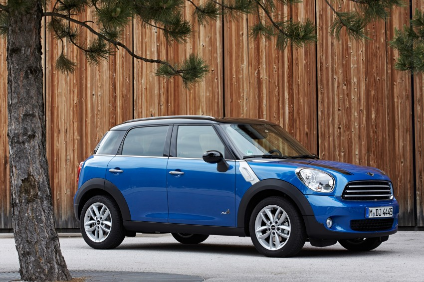 Standard MINI Cooper Countryman and Paceman can now be had with optional ALL4 all-wheel drive system Image #178039