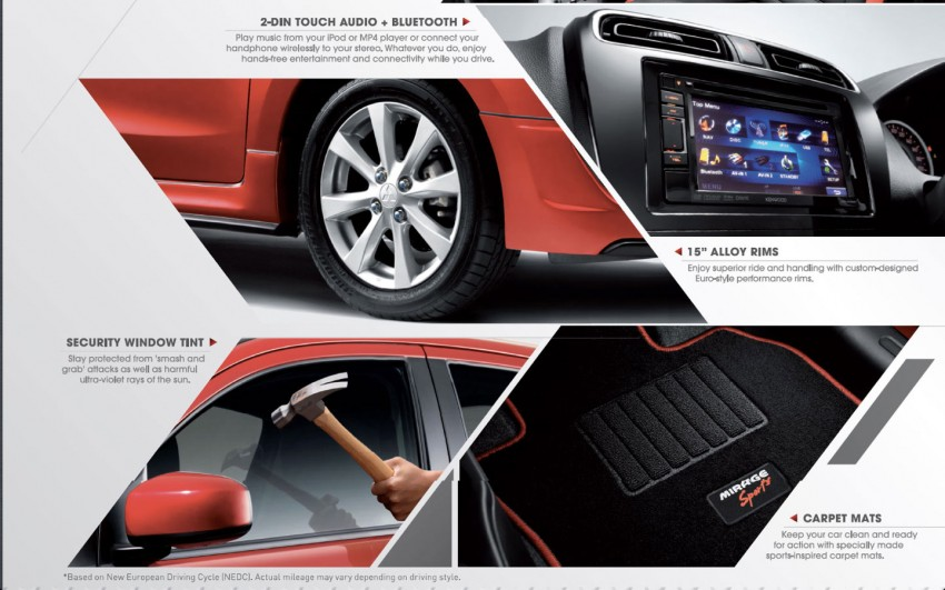 Mitsubishi Mirage Sports – limited edition, 400 units Image #182481