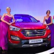 Models with the newly launched Santa Fe