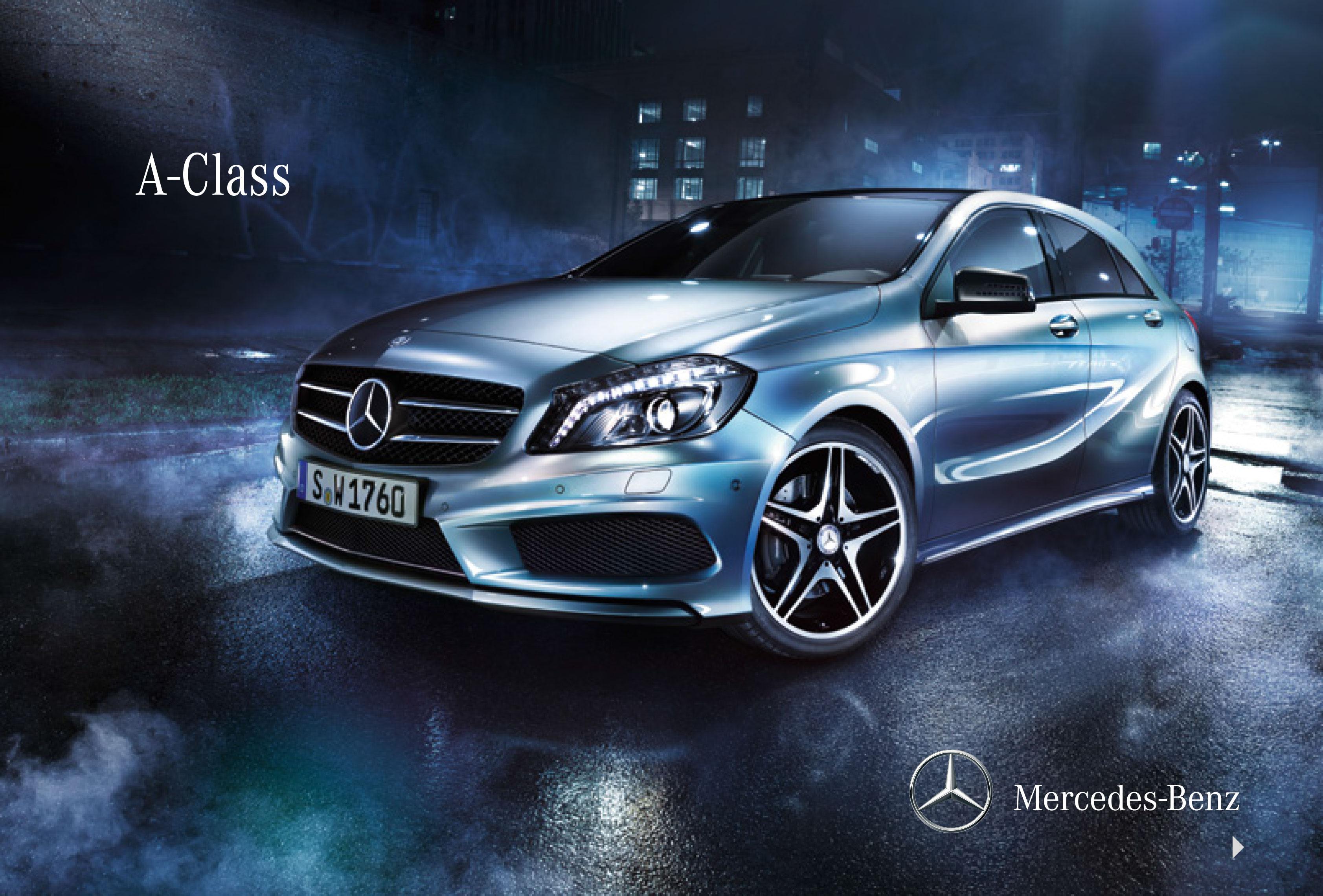Mercedes a class brochure