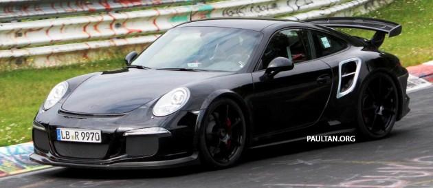 spyshots porsche 911 gt2 testing on the nurburgring. Black Bedroom Furniture Sets. Home Design Ideas