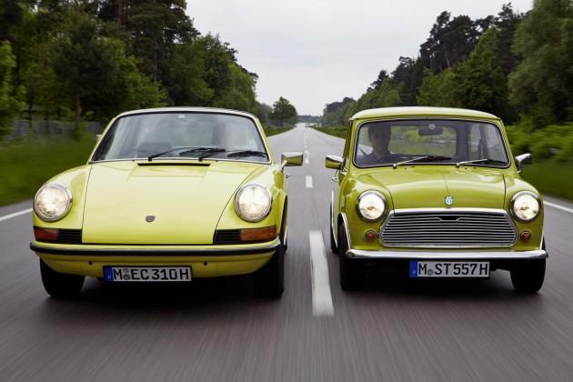 Porsche 911 and Mini
