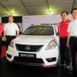 Unveiling of the Nissan Almera Nismo