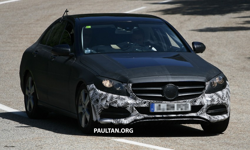 W205 Mercedes-Benz C-Class reveals more of its grille Image #181772