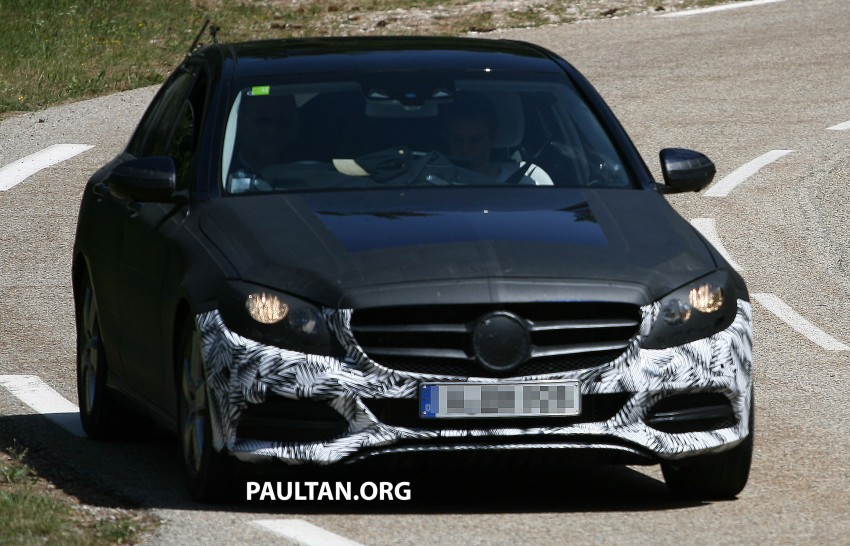 W205 Mercedes-Benz C-Class reveals more of its grille Image #181773
