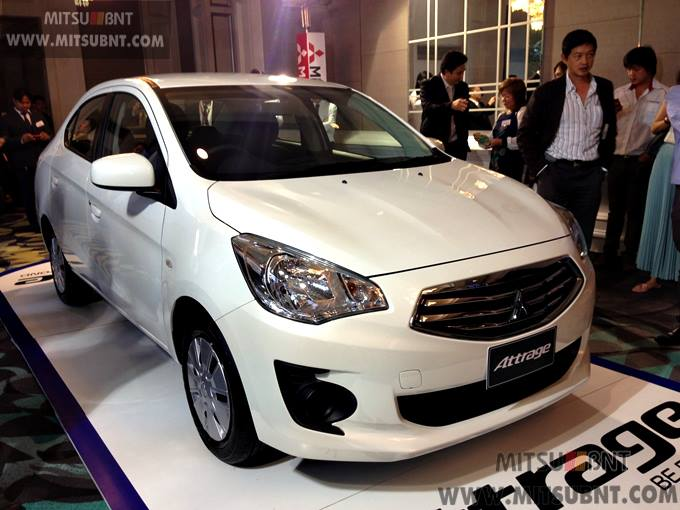 Mitsubishi Attrage previewed ahead of Thai launch Image #178680