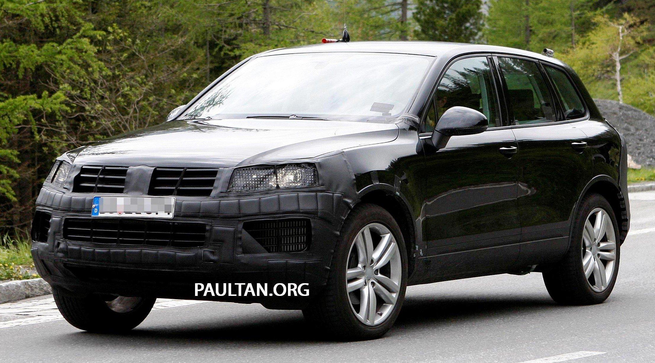 Volkswagen Touareg 2018 >> SPYSHOTS: Volkswagen Touareg facelift; due 2014 Image 179829