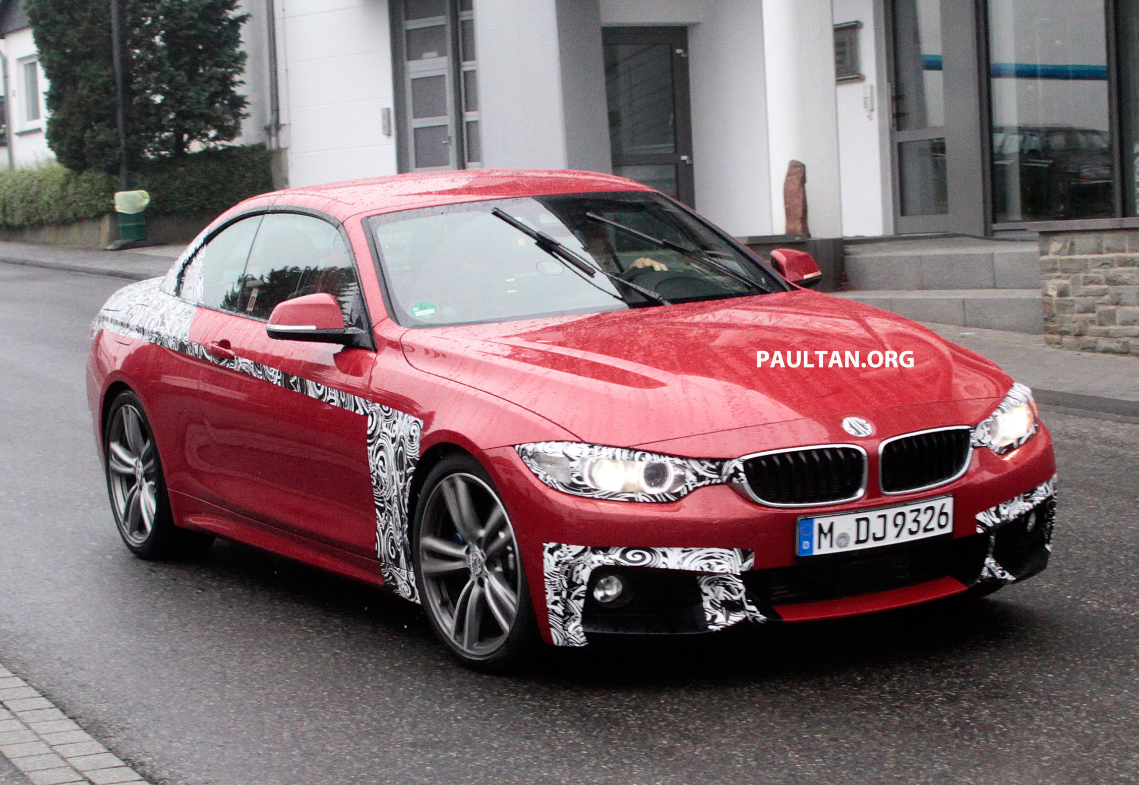Spied Bmw 4 Series Convertible F33 Almost Naked Image 185321