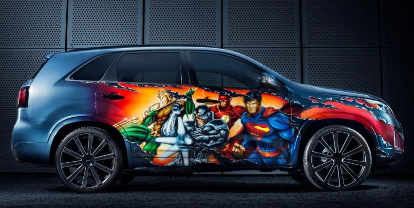 Superheroes unite on Justice League Kia Sorento Image #190000