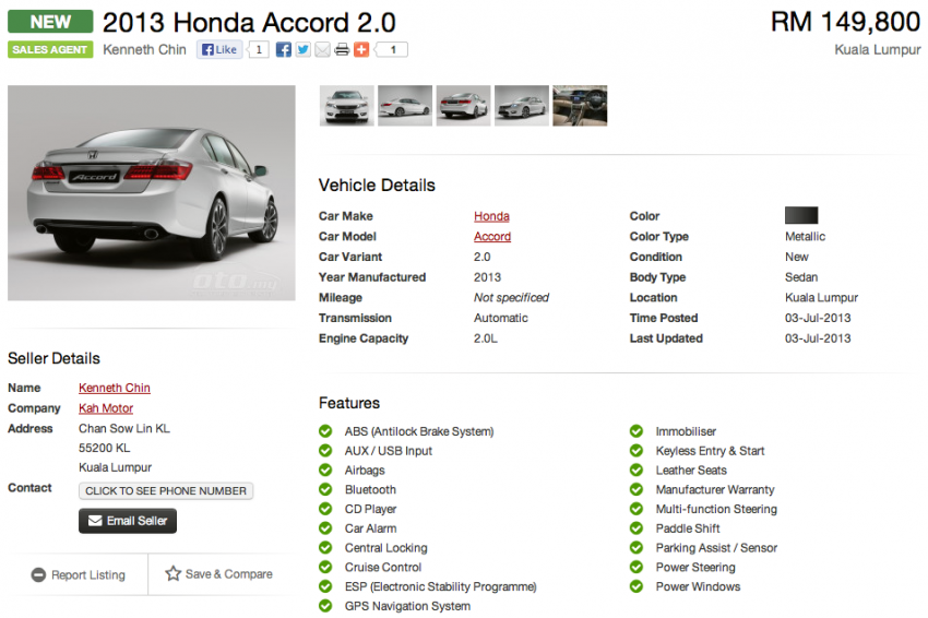 Honda Accord – ninth-gen appears on oto.my Image #186182