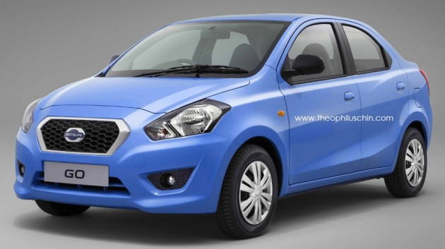 datsun go sedan render 01