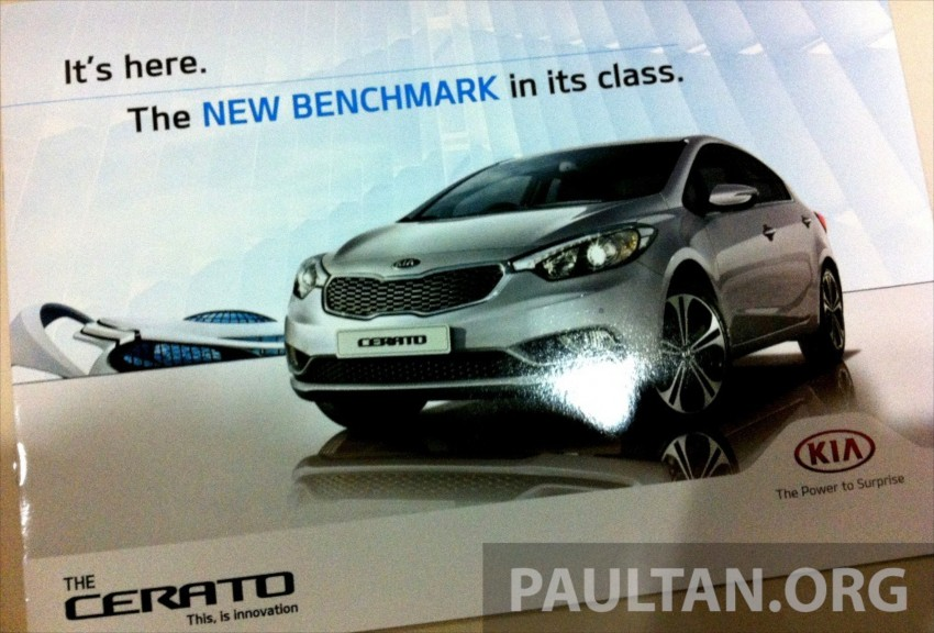 GALLERY: Kia Cerato at the showroom with brochure Image #184386