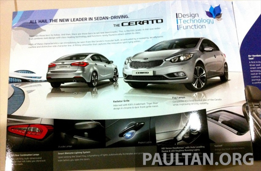GALLERY: Kia Cerato at the showroom with brochure Image #184384