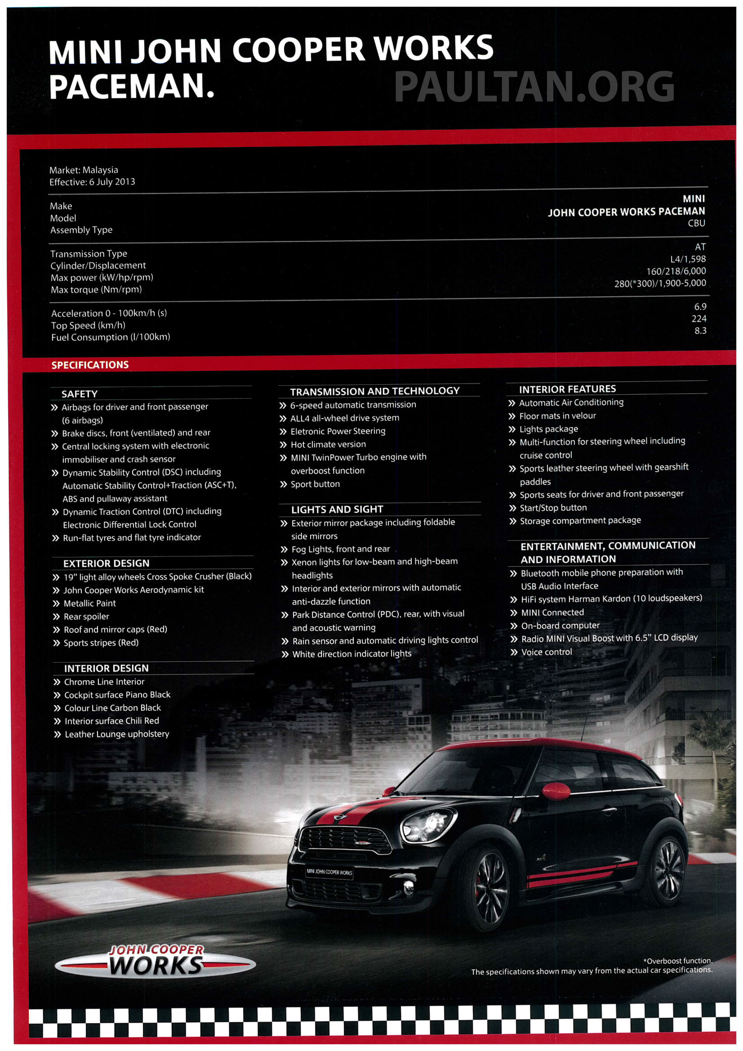 MINI JCW Hatch, Coupe, Countryman and Paceman now available in