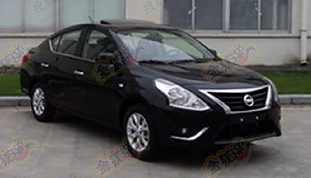 Nissan Almera facelift captured undisguised in China