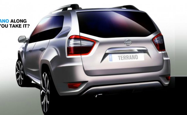 nissan-terrano-sketch rear