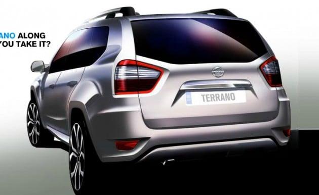 nissan-terrano-sketch rear