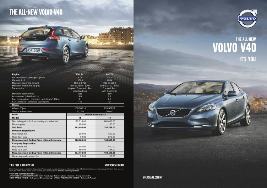 Volvo V40 launched in Malaysia – RM174k to RM199k Image #193557