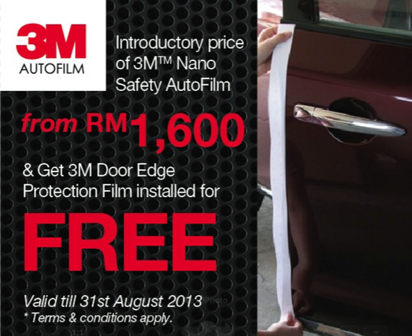 3M Nano Safety AutoFilm promotion