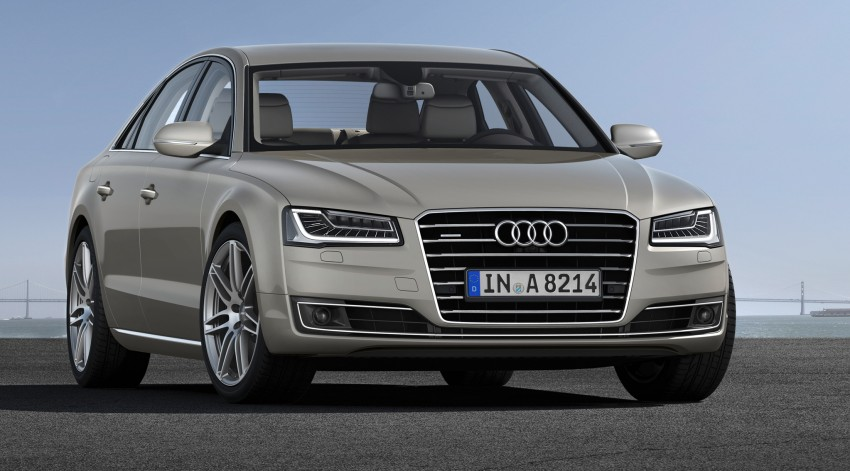 Audi A8 facelift unveiled, to debut at Frankfurt 2013 Image #194288