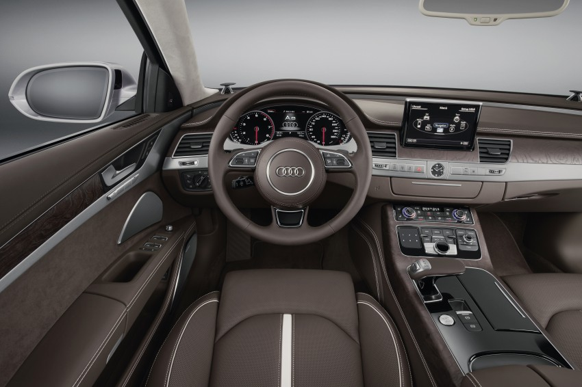 Audi A8 facelift unveiled, to debut at Frankfurt 2013 Image #194096