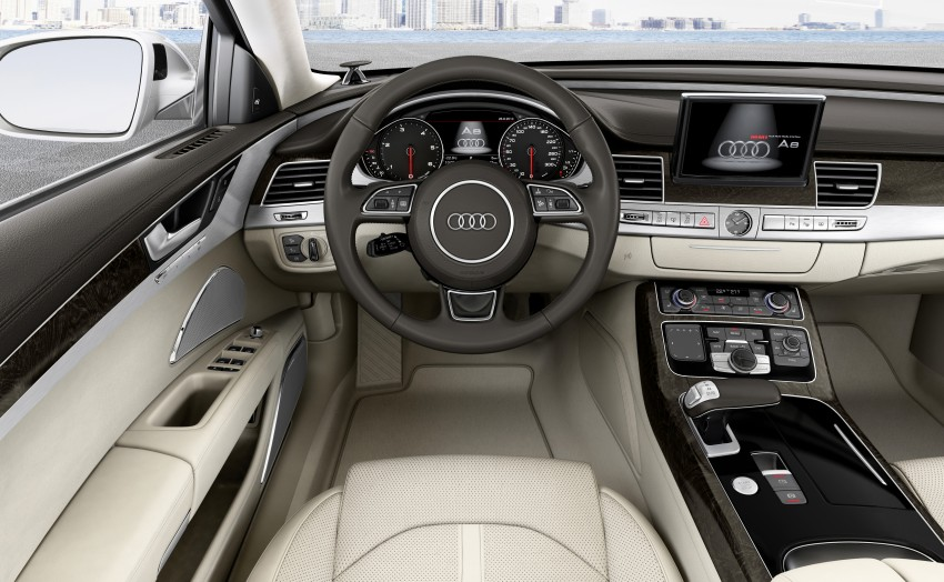 Audi A8 facelift unveiled, to debut at Frankfurt 2013 Image #194097