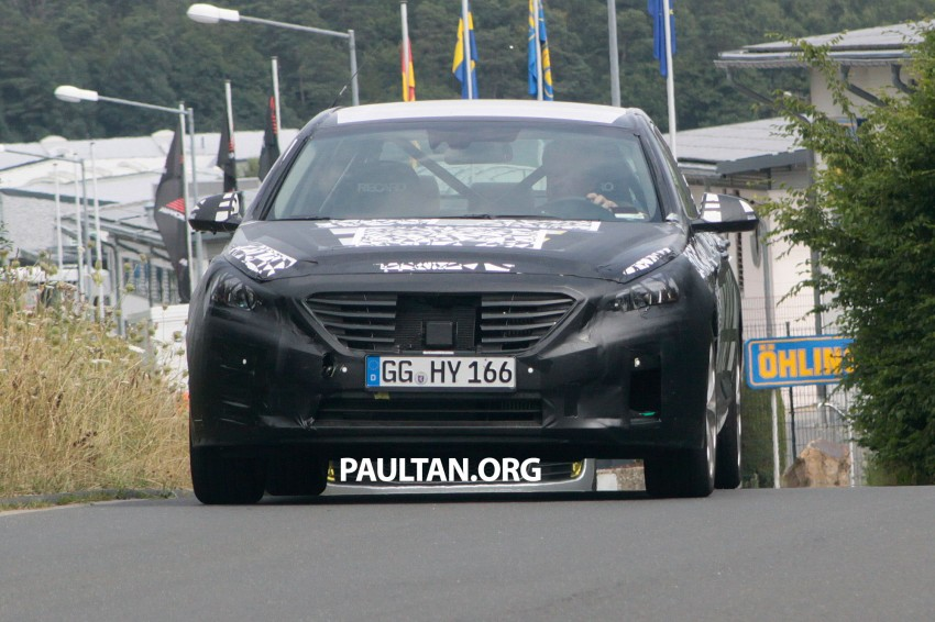 Next-generation Hyundai Sonata on test at the 'Ring Image #194279