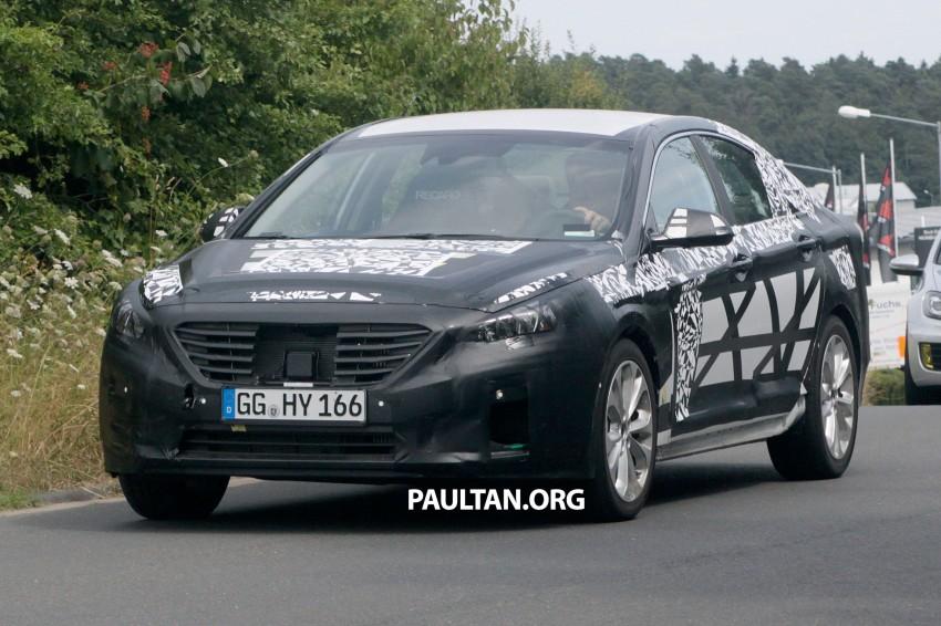 Next-generation Hyundai Sonata on test at the 'Ring Image #194278