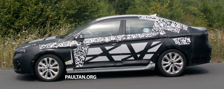 Next-generation Hyundai Sonata on test at the 'Ring Image #194277