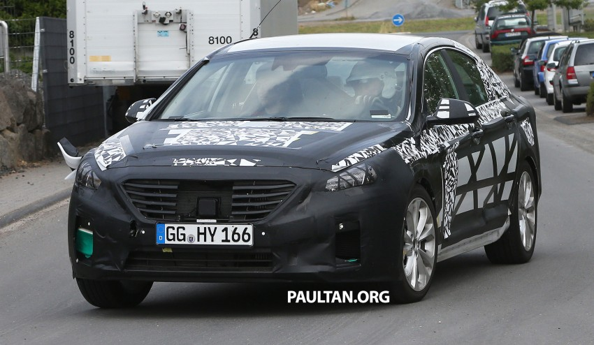 Next-generation Hyundai Sonata on test at the 'Ring Image #192901