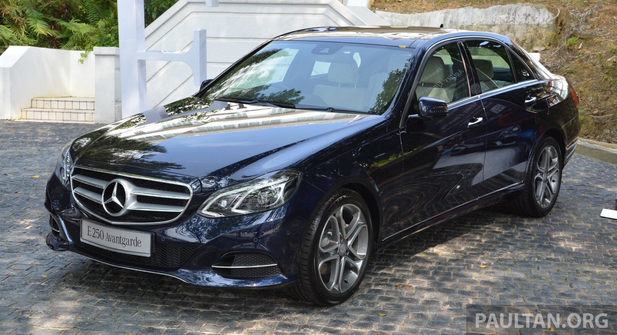 Mercedes Benz >> W212 Mercedes-Benz E-Class facelift launched – E 200 Avantgarde and E 250 Avantgarde, RM367k ...