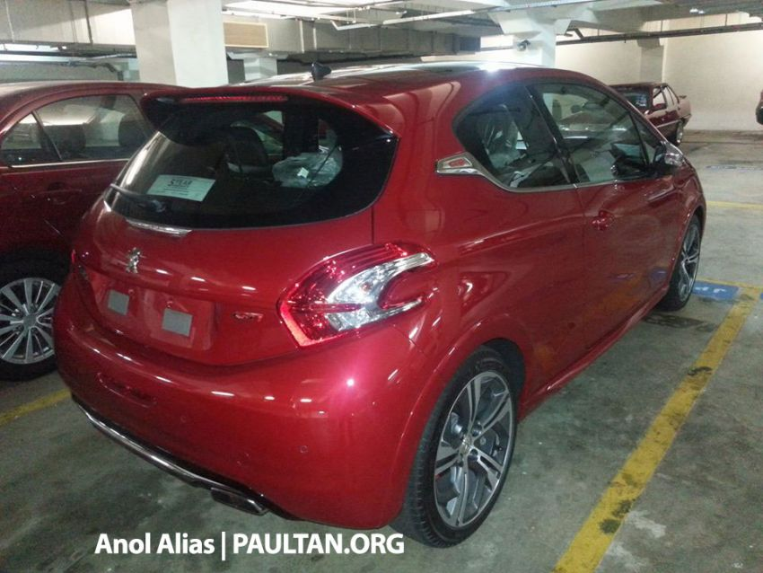 Peugeot 208 GTi sighted at JPJ – will it be CKD? Image #194514