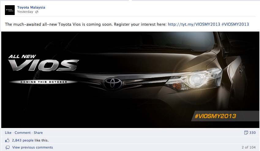 2013 Toyota Vios now open for booking in Malaysia Image #192880